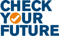 """Check your Future!""-Logo"